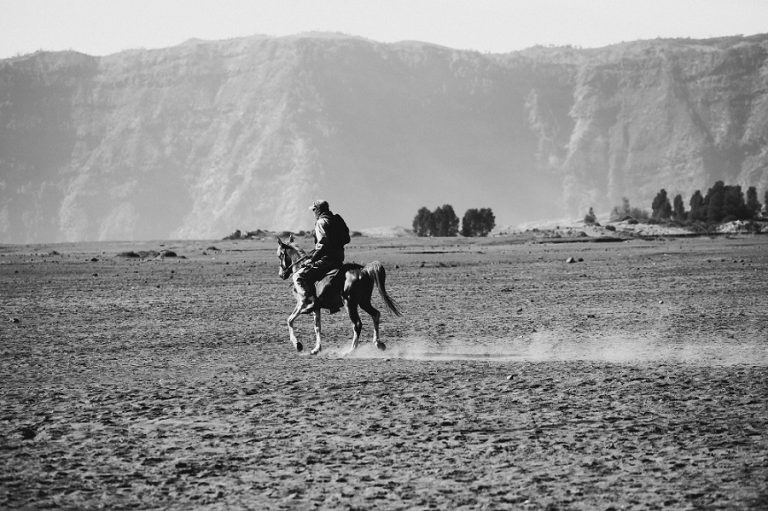 Horse Riding in Bromo Mountain, East Java, Indonesia